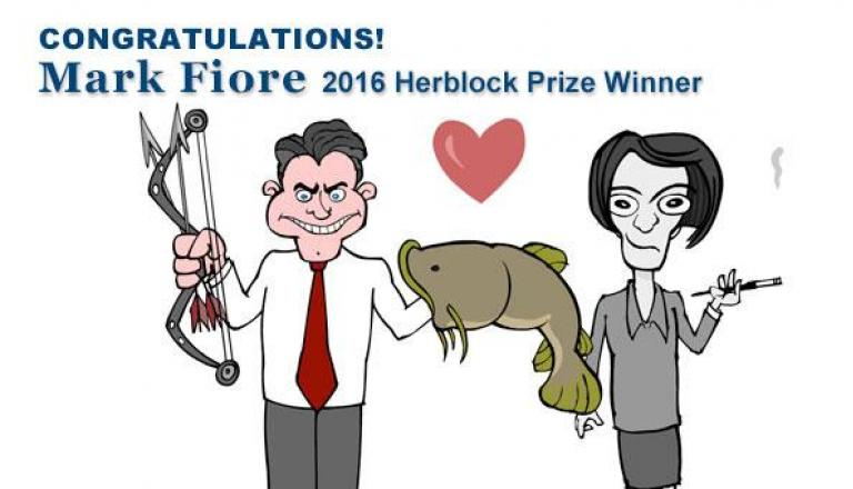 Mark Fiore the 2016 Herblock Prize Winner!