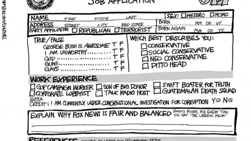 Department of Justice job application