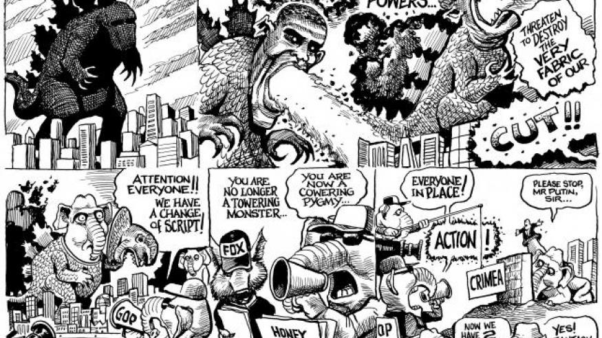 Barackzilla cartoon