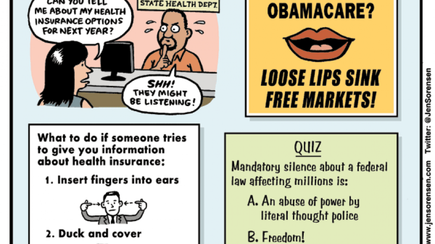 Health Gag Rule cartoon